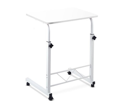 Portable Adjustable Wooden Latpop Stand - White