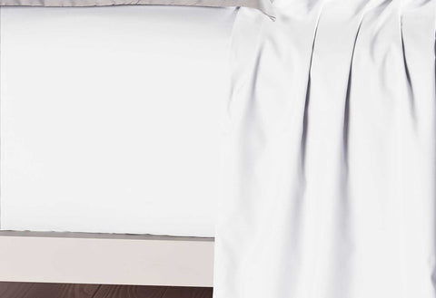 King Single Size White Color Fitted Sheet