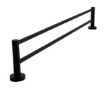 Single Classic Towel Bar Rail Bathroom Electroplated Matte Black Finish