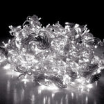 Jingle Jollys 6X3M Christmas Curtain Lights 600LED Cold White