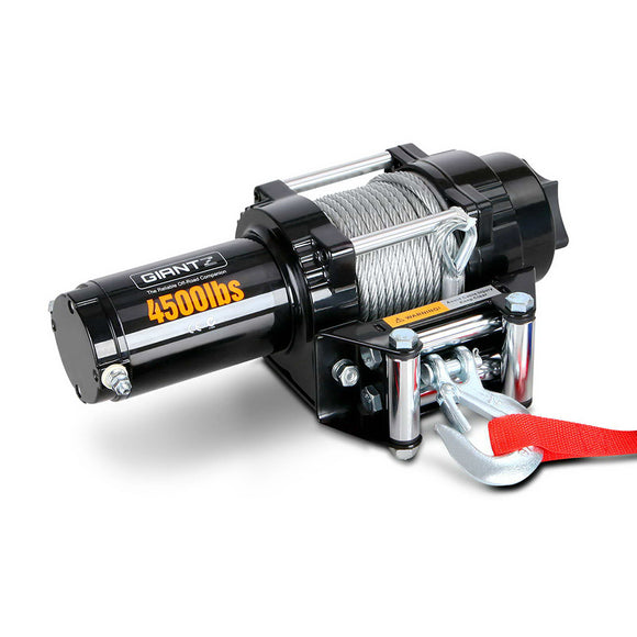 12V 14500LBS STEEL CABLE ELECTRIC WINCH WIRELESS REMOTE 4WD TRUCK OFFROAD 6577KG - Kwik shop & ship