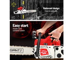 Giantz 62CC Commercial Petrol Chainsaw - Red & White