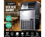 Devanti Stainless Steel Commercial Ice Cube Maker