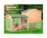 i.Pet 138cm Wide Wooden Pet Coop