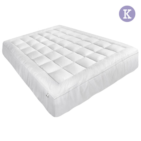 Giselle Bedding King Size Memory Resistant Mattress Topper