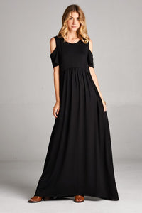 Cold Shoulder Maxi | Black
