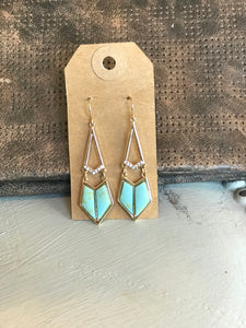 Teal Kite Earrings