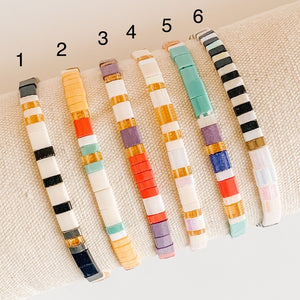 Glass Beaded Stretch Bracelets