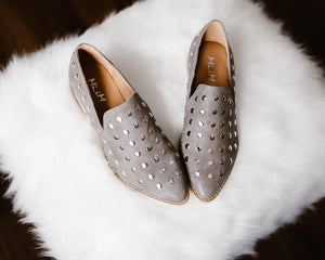 Women Metallic Stud Slip On Loafer Sneaker SCOTTIE