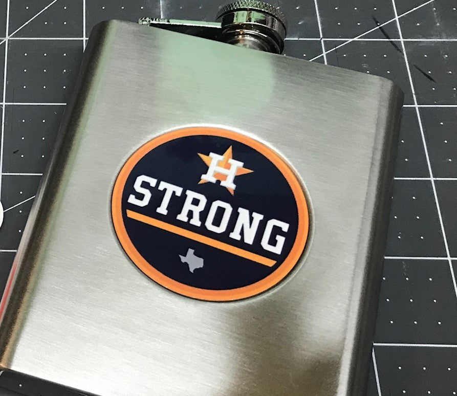 6oz Stainless Steel Flask with Custom Printed Logo or Monogram