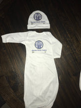 Monogram Baby Gown and Hat Set