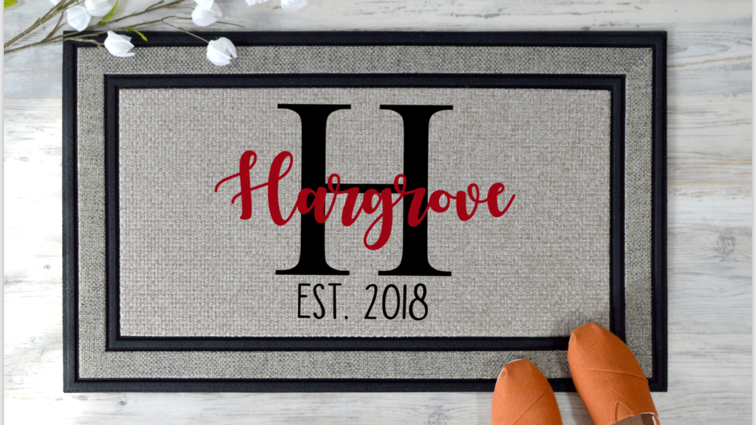 Personalized Front Door Mat
