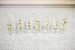 Stemless Glass Champagne Flutes