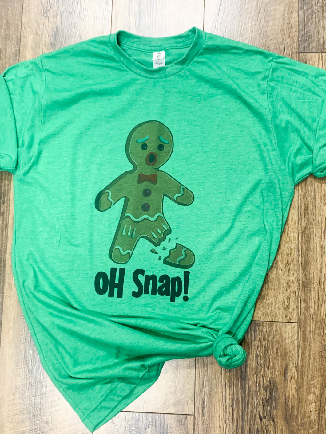 Oh Snap! Gingerbread Man || Permanent Print T-Shirt