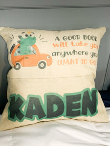 Book Pocket Pillow - Personalized