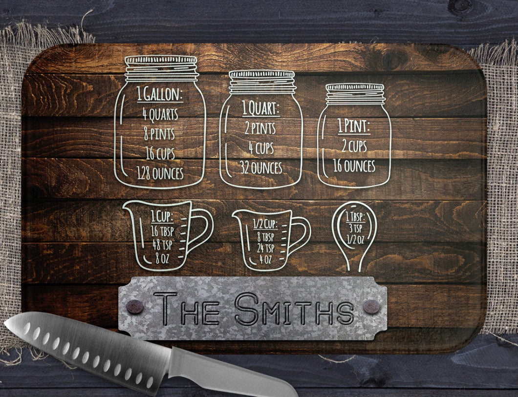 Glass Cutting Board - Custom Print / Personalization