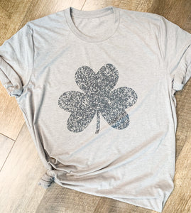 St. Patrick's Day Rustic Clover - Vintage Look T-shirt
