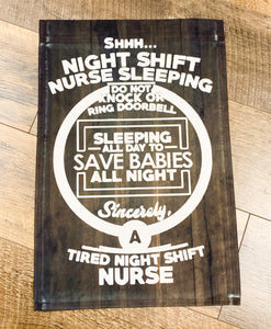 NICU Nurse - Night Shift - Garden Flag