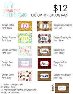Custom Printed Dog Tags
