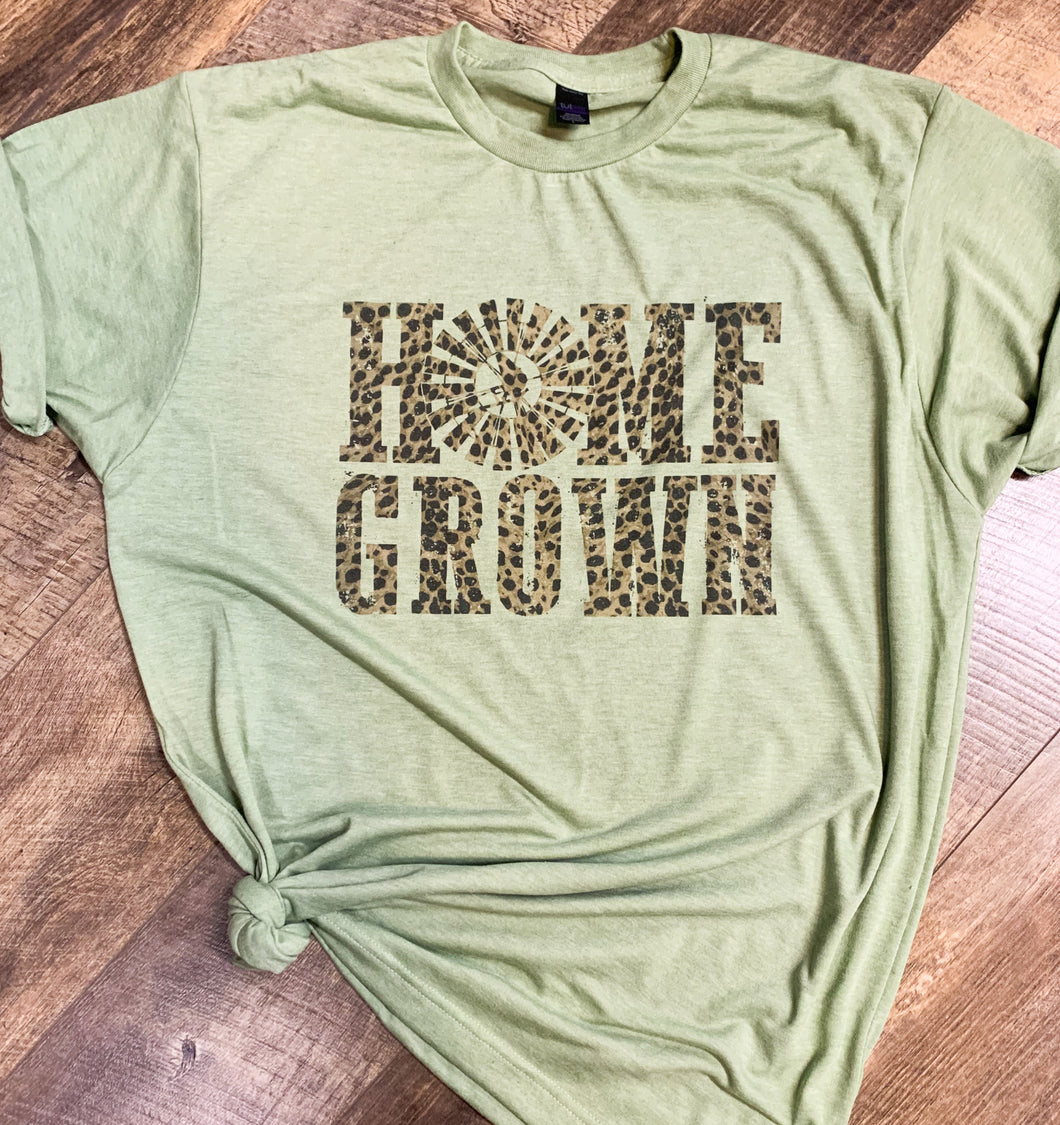 Home Grown Leopard || Permanent Print Soft T-Shirt