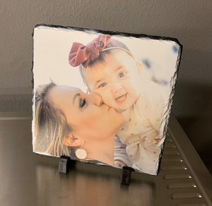 Photo Stone Print with Tabletop Stands