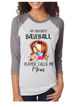 My Favorite Baseball Player Raglan