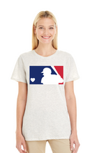 MLB Love - Ladies Printed V Neck or Crew Neck Shirt