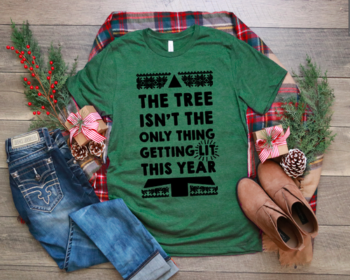 Getting Lit This Year - Pine Green Vintage Style T-shirt