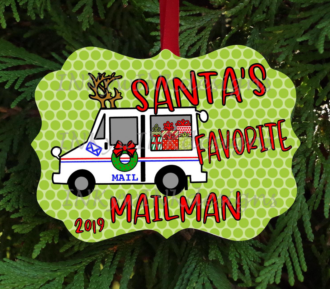 Mailman Christmas Ornament