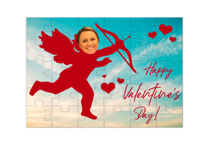 Valentine's Day Insert Face Cupid Puzzle