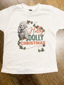 Have a Holly Dolly Christmas || Permanent Print Soft T-Shirt