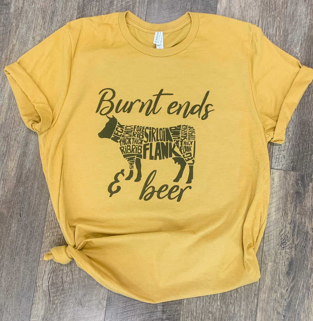 Burnt Ends & BBQ- BBQ Cookoff / Rodeo T-Shirt