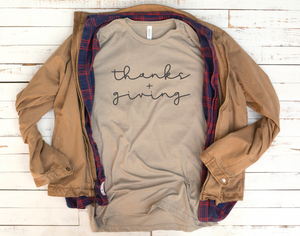 Thanks + Giving - Vintage Thanksgiving T-shirt