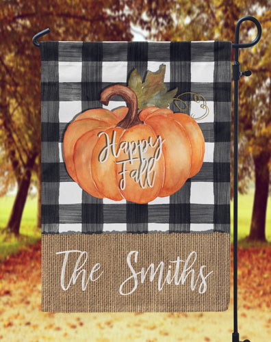 Fall Pumpkin Garden Flag- Personalized