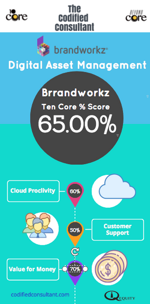 Brandworkz Ten Core Digital Asset Management Score