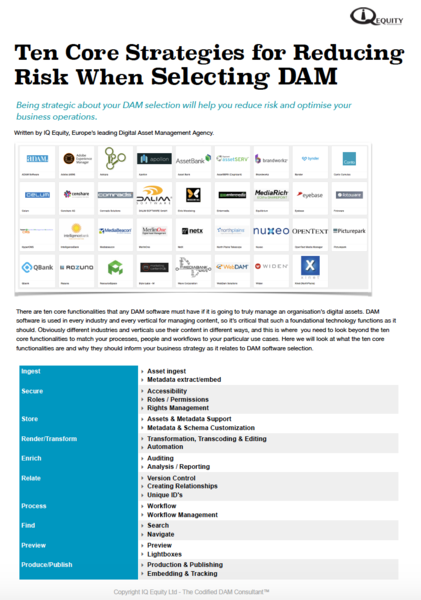 On Premise Digital Asset Management Vendor Report