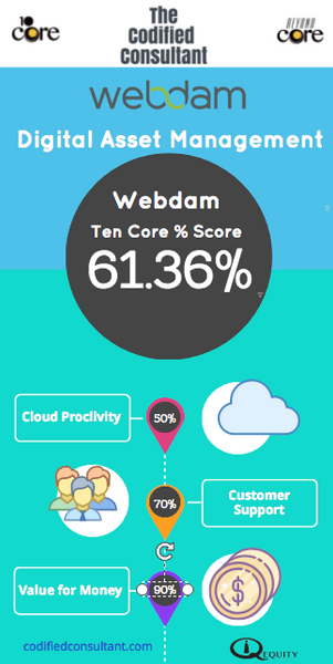Webdam Ten Core Digital Asset Management Score