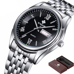 Luminous Silver Watch
