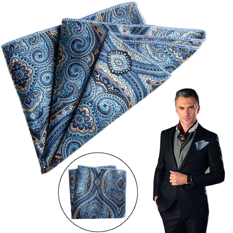 Satin Fields Floral Pocket Square