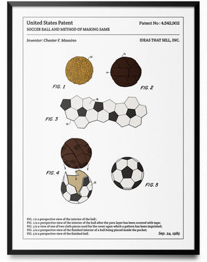 Affiche de brevet - Ballon de football - L'Affiche Technique