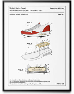 Affiche de brevet - Nike Air Max - L'Affiche Technique