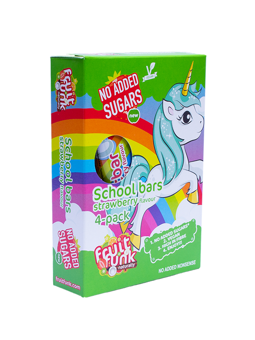 Unicorn Schoolbars 4-pack