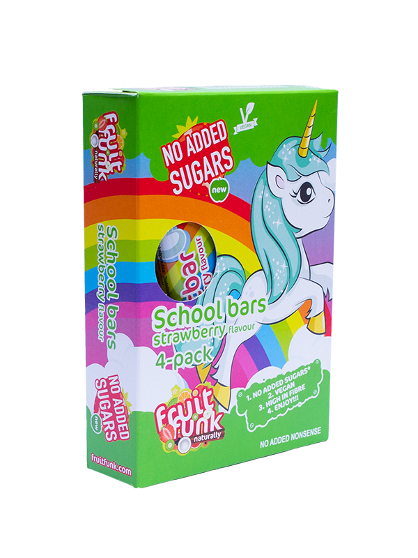 Unicorn Fruitbar Strawberry 4-pack