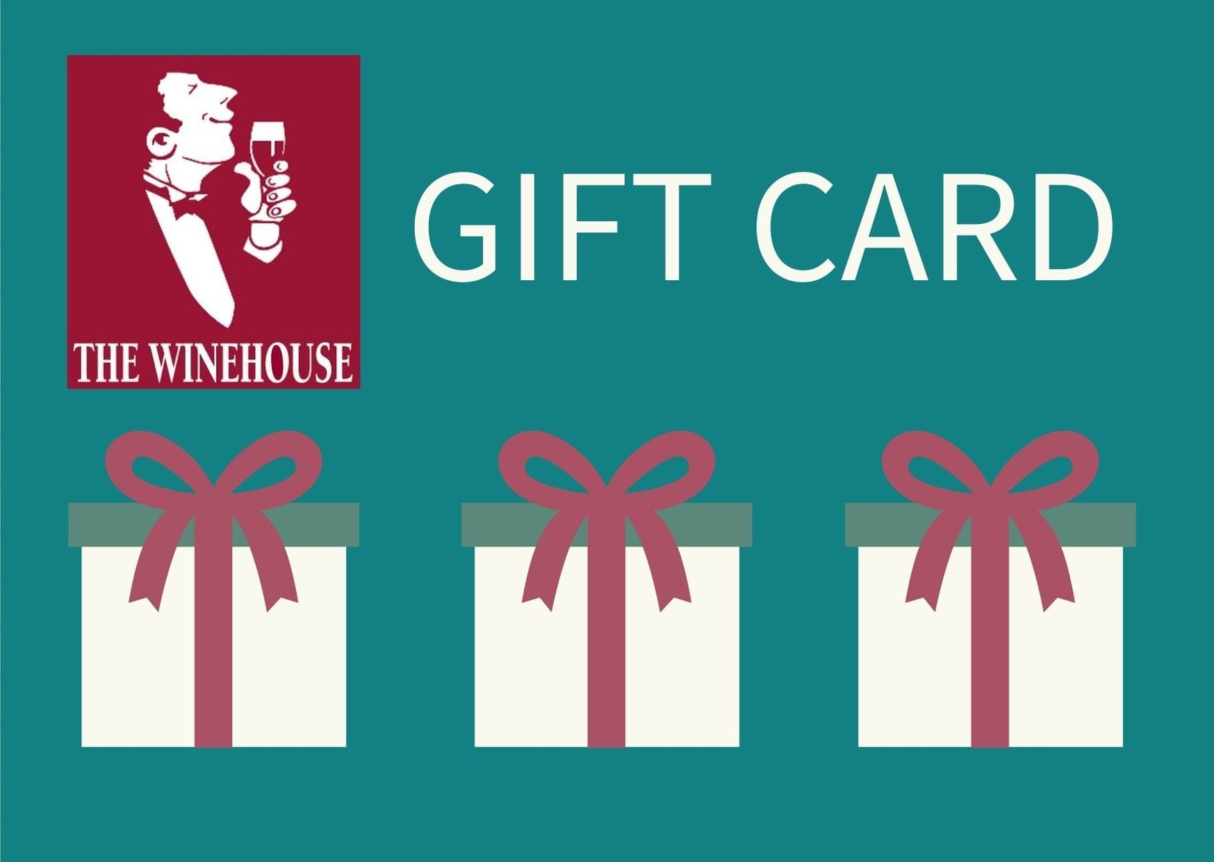 THE WINEHOUSE GIFT CARDS. AVAILABLE VALUES FROM €25 TO €200.