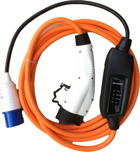 Commando / CEE to Type 1 plug EV Charging Cable, Electric Vehicle Charger. 5 meters, 16amp, 240v, 3.6kw per hour