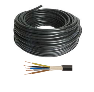 50 meters x 6mm 5-core Hi-Tuff Cable, PVC NYY-J