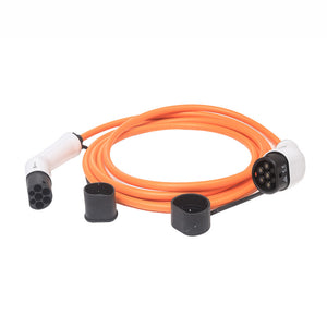 3-phase EV Charging Cable - 5 or 10 meters - Type 2 to Type 2 - 22kw / 32amp