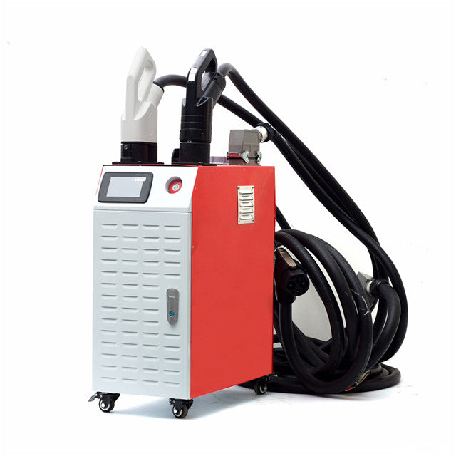 53kw portable EV charger by Electway, CHR-60, rapid DC output CCS & Chademo connectors, Ideal for vehicle dealerships and other commecial premesis