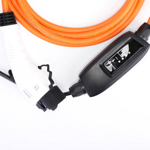 Type 1 Granny Cable EV / PHEV Electric or Plug in Hybrid car / van Charging Lead, Portable Charger - 10amp 240v - 5 Meters long - UK 3 pin plug to Type 1 plug in vehicle