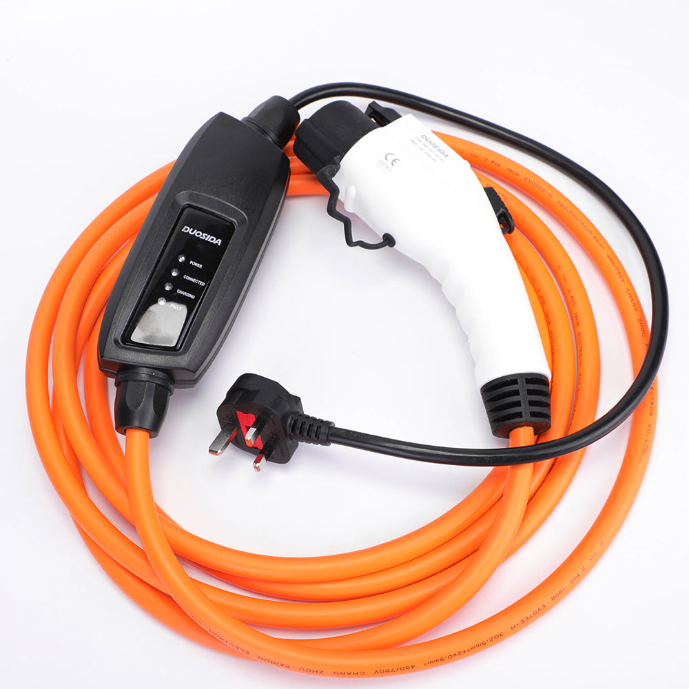 Renault Kangoo / Fluence (Phase 1) EV Home Charger, Charging Cable - 10amp EVSE - 5 Meters long - UK to Type 1